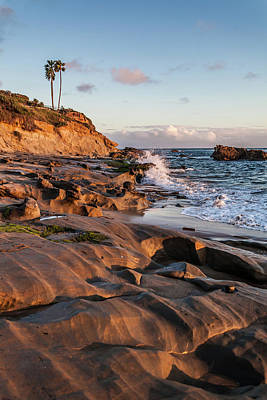 Poster featuring the photograph Rock Formation Along The California Coast by Cliff Wassmann