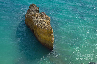 Rock Formation And The Sea In Algarve Poster