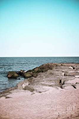 Poster featuring the photograph Rock Jetty by Colleen Kammerer
