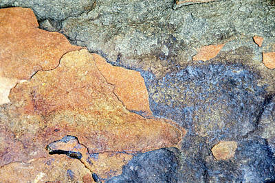 Poster featuring the photograph Rock Pattern by Christina Rollo