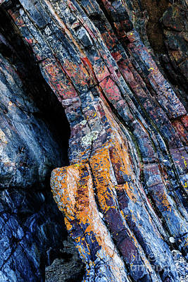 Poster featuring the photograph Rock Pattern Sc01 by Werner Padarin