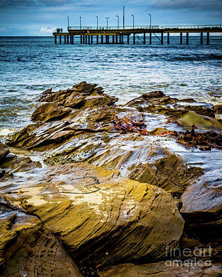 Poster featuring the photograph Rock Pier by Perry Webster