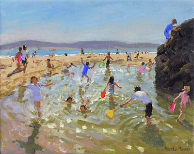 Rock Pool, Tenby Poster by Andrew Macara