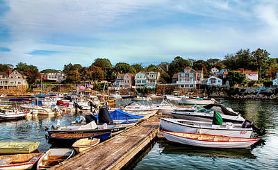 Rockport Harbor Poster by Mick Burkey