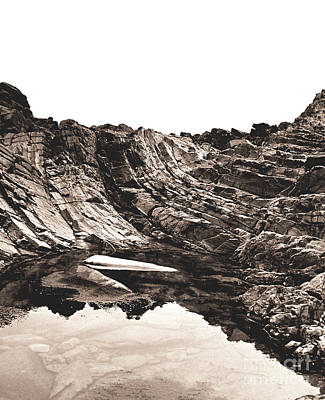 Poster featuring the photograph Rock - Sepia Detail by Rebecca Harman