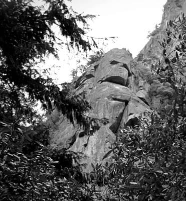 Rock Spirits At Yosemite B And W Poster