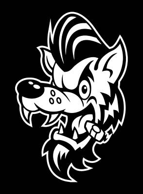 Rockabilly Wolf Head Poster