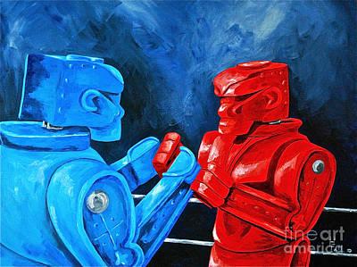 Rockem Sockem 2 The Rematch Poster by Herschel Fall
