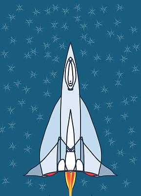 Rocket Ride Poster by Denny Casto