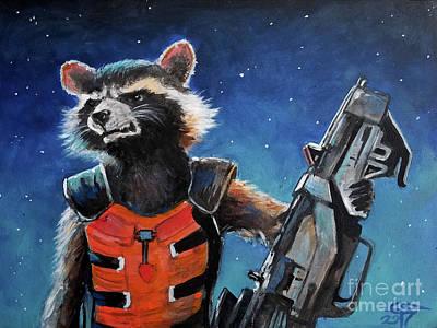 Rocket Poster by Tom Carlton