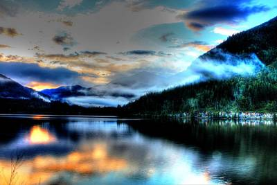 Rockie Mountain Mist Poster