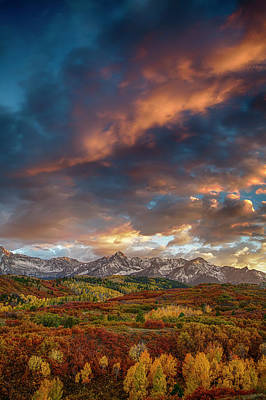 Rockies Autumn Poster by Andrew Soundarajan
