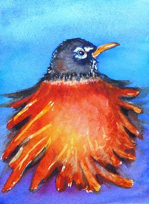 Poster featuring the painting Rockin Robin by Patricia Piffath