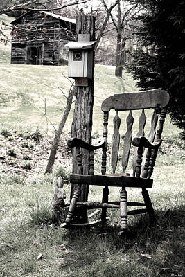 Rocking Chair Poster by Gray  Artus