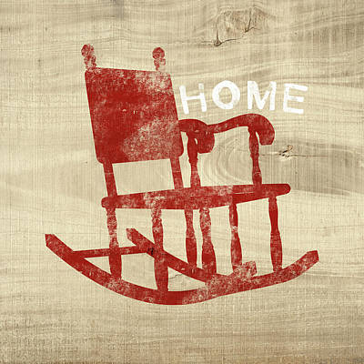 Rocking Chair Home- Art By Linda Woods Poster by Linda Woods