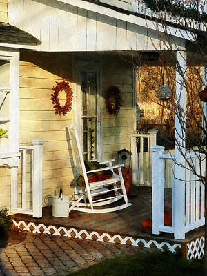 Rocking Chair On Side Porch Poster