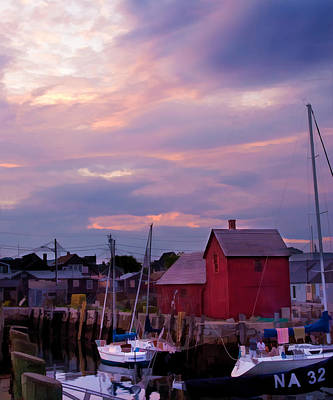 Poster featuring the photograph Rockport Sunset Over Motif #1 by Jeff Folger