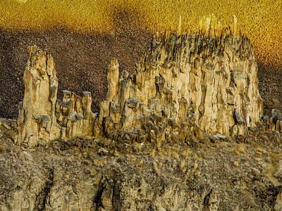 Rocks Above Palouse Falls Poster by Jean Noren