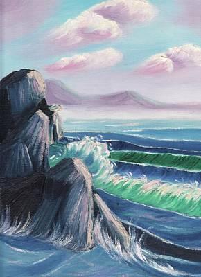 Rocks And Sea Poster