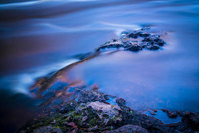 Rocks And Water Poster by Marvin Spates