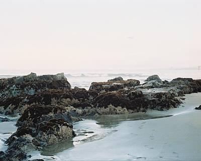 Rocks At Low Tide Poster
