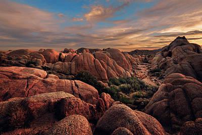 Rocks At Sunrise Poster