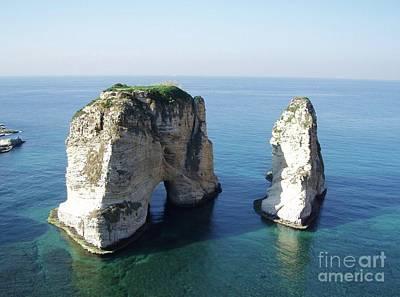 Rocks In Sea Poster