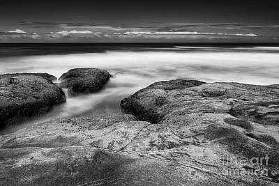 Rocks Towards The Ocean Poster