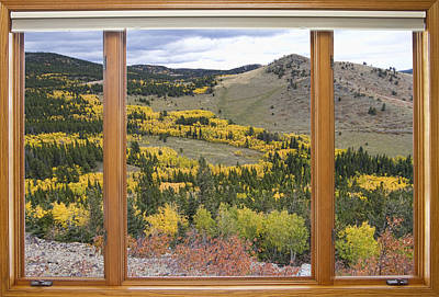 Rocky Mountain Autumn Picture Window View Poster
