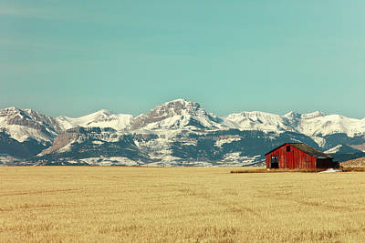 Rocky Mountain Barn Poster by Todd Klassy