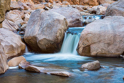 Rocky Mountain Canyon Waterfall Poster