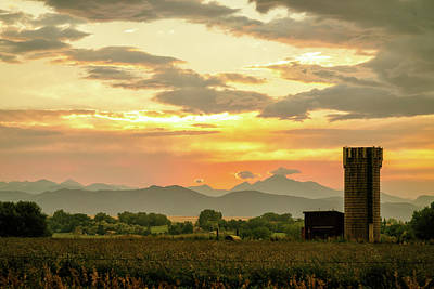 Poster featuring the photograph Rocky Mountain Front Range Country Landscape by James BO Insogna
