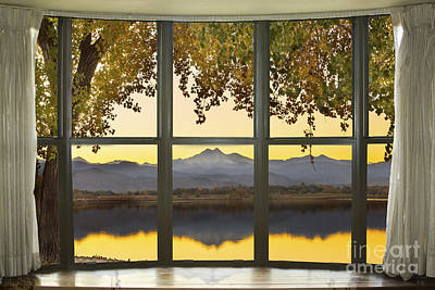 Rocky Mountain Golden Reflections Bay Window View Poster by James BO  Insogna