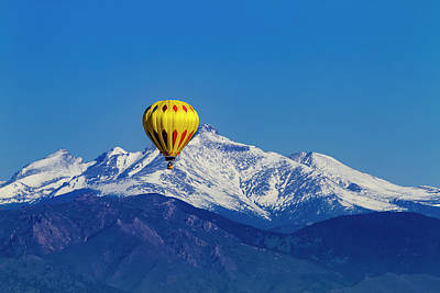 Rocky Mountain Hot Air Balloon Poster by Teri Virbickis