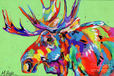 Rocky Mountain Moose Poster by Tracy Miller