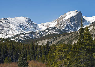 Rocky Mountain National Park Vista Showing Hallet Peak On Right Poster by Brendan Reals