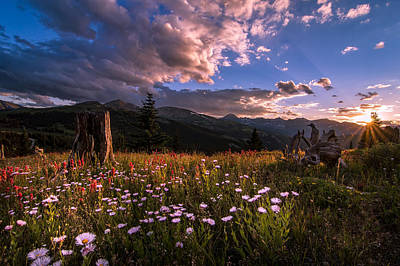 Rocky Mountain Summer Sunset Poster by Michael J Bauer