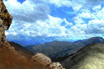 Rocky Mountains Vista Oil Painting Poster by Design Turnpike