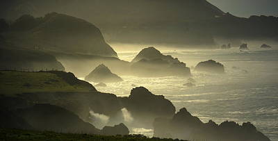 Rocky Point Big Sur On A Foggy Day Poster