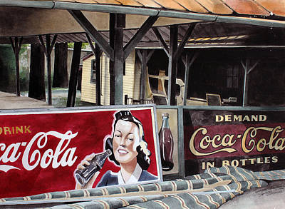 Rocky Springs Trolley Stop Poster by Denny Bond