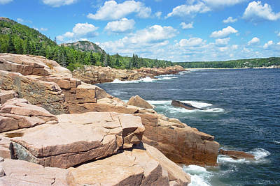 Rocky Summer Seascape Acadia National Park Photograph Poster