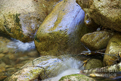 Rocky Water Closeup 2 Poster