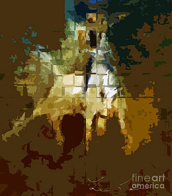 Rodeo Abstract Digital Painting Poster