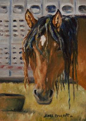 Rodeo Horse Poster by Lori Brackett