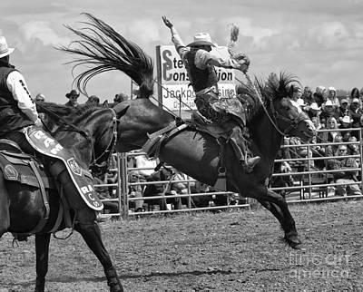 Rodeo Saddleback Riding 15 Poster by Bob Christopher