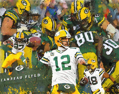 Rodgers. Cobb, Lacy Poster by John Farr