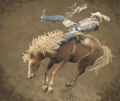 Rodeo Rider Poster by Kathie Miller