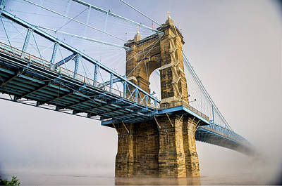 Poster featuring the photograph Roebling Suspension Bridge 2 by Rick Hartigan