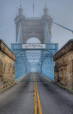 Poster featuring the photograph Roebling Suspension Bridge by Rick Hartigan