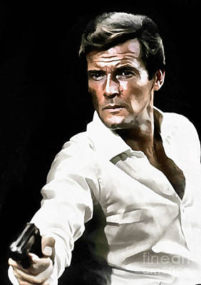 Roger Moore Poster by Sergey Lukashin